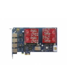 TDM410E Tarjeta Asterisk PCI-E / 4FXO