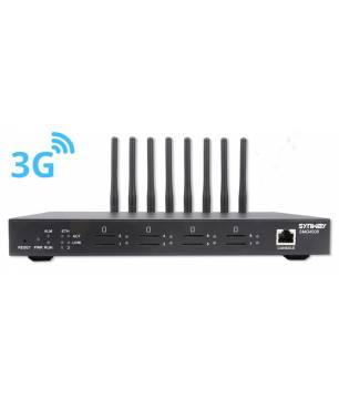 SMG4008-8WA / 8 Puertos Red 3G Gateway Synway